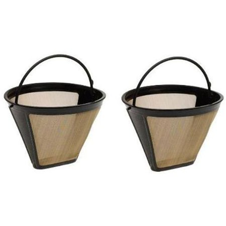 CONE SHAPED GOLD 2 FILTERS, BRAND NEW BULK PACKAGING FITS 2-4-6 CUP COFFEE MAKERS By (Shaped Coffee Filters)
