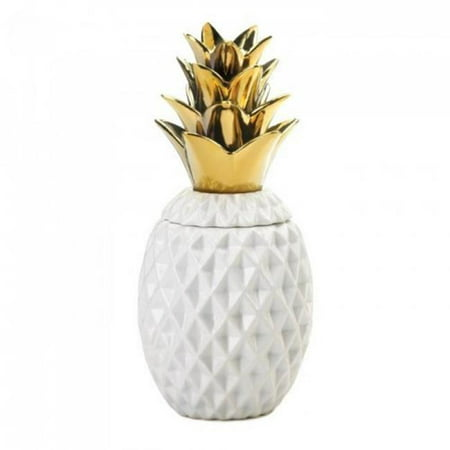 Accent Plus 10018753 13 in. Topped Pineapple Jar, Gold - image 1 of 1