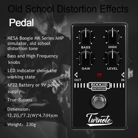 Boogie Dist Mini Guitar Pedal Old School Distortion Tone for Guitar Accessories for MESA Boogie MK Series AMO Simulator