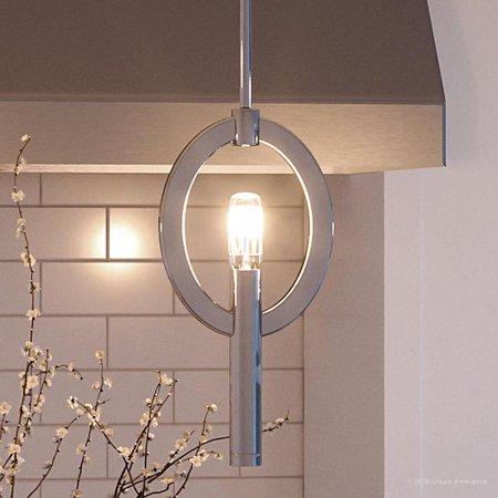 Urban Ambiance Luxury Mid-Century Modern Pendant, Size: 12-1/4