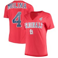 Women's New Era Yadier Molina Red St. Louis Cardinals Name & Number T-Shirt