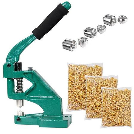 Yescom 3 Die (#0 #2 #4) Hand Press Grommet Machine and 900 Pcs Golden Grommets Eyelet Tool Kit