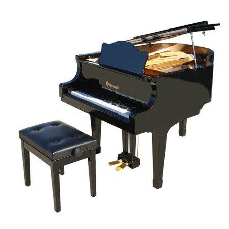 Schoenhut 49 key pro baby grand piano in black for Baby grand piano height
