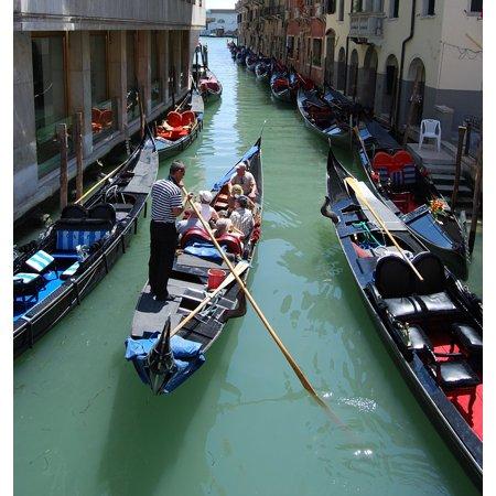 Laminated Poster Channel Italy Venice Remo Gondola Transport Poster Print 11 x 17 (Italian Gondola Driver)