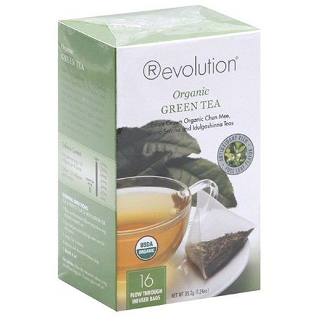 Révolution Sachets de thé vert bio, 16, nombre (pack de 6)