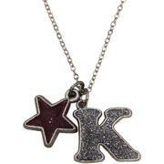 Glitter Initial K Necklace