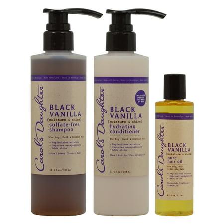 Carol's Daughter Black Vanilla Shampoo & Conditioner & Hailr Oil 4 3oz