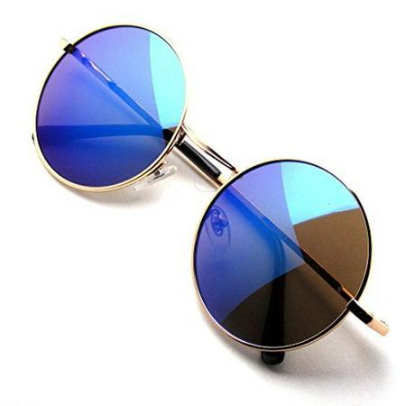 Emblem Eyewear - John Lennon Sunglasses Round Hippie Shades Retro Colored Lenses (Retro Sunglasses Cheap)