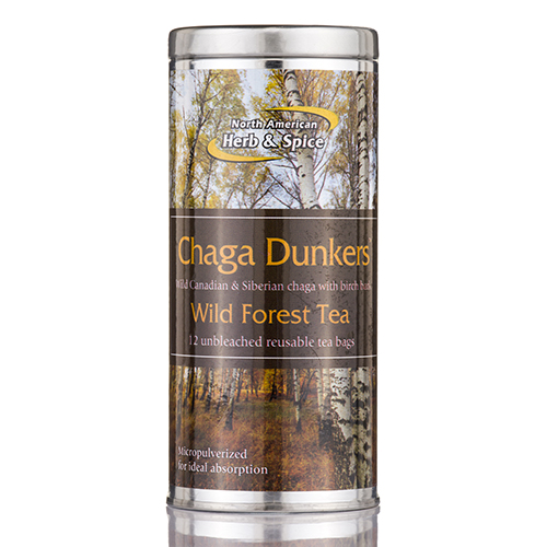 Chaga Dunkers - 12 Tea Bags by North American Herb and Spice