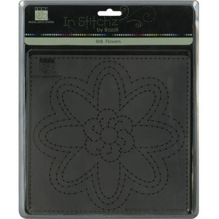In Stitch'z 8 Inch x8 Inch Templates - 1PK/Flowers, Size: 8 Inch x8 Inch By Bazzill