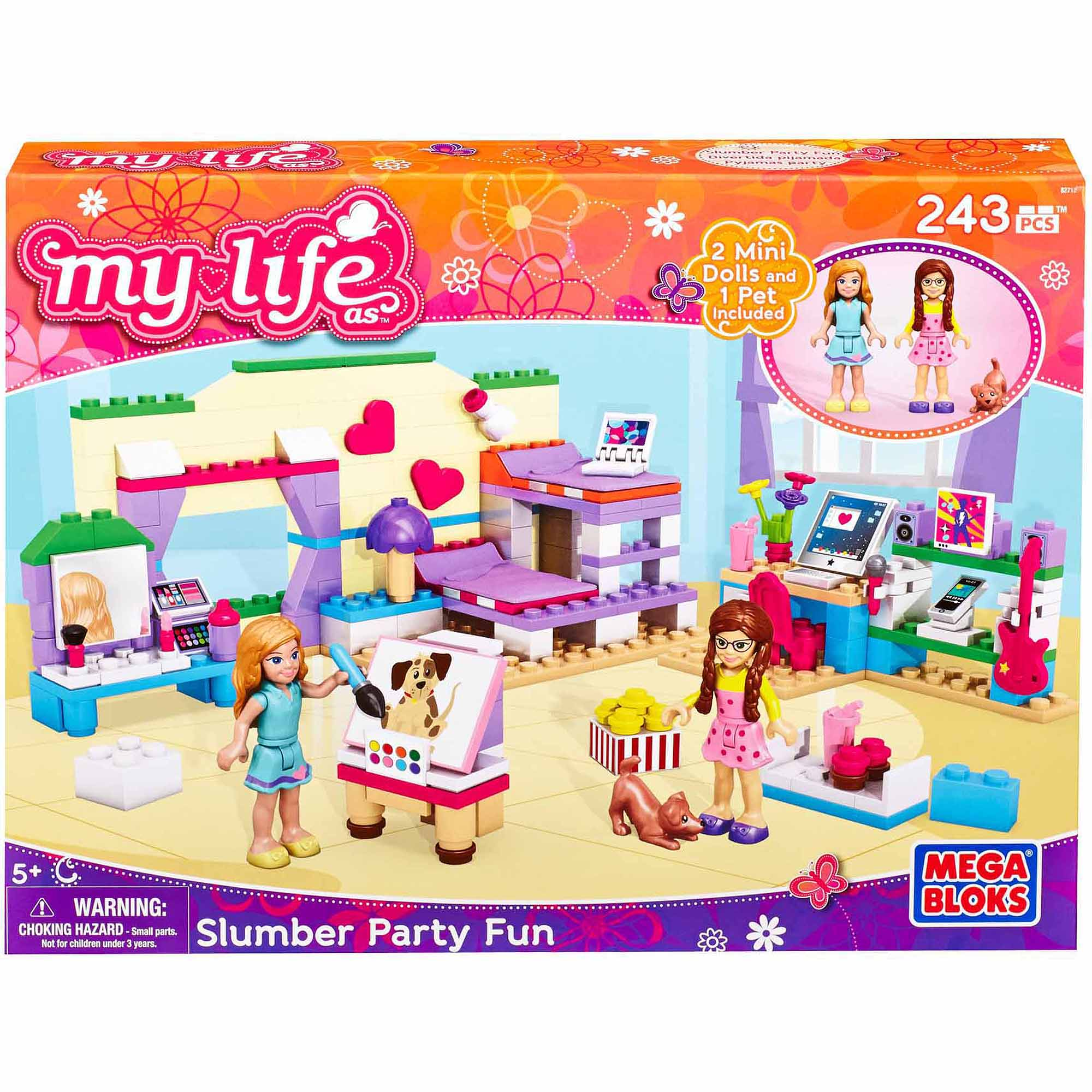 Mega Bloks My Life As Slumber Party Play Set by My Life
