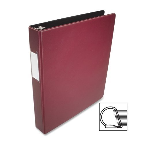 """Business Source Slanted D-ring Binders 1"""" Binder Capacity 3 x D-Ring Fastener(s) 2 Internal Pocket(s)... by Business Source"""