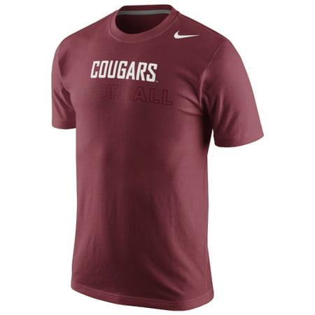 Washington State Cougars Nike Football Practice Training Day T-Shirt - Crimson - -