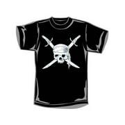 Novelty Men's  Swords Skull T-shirt Black