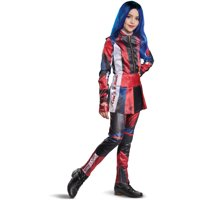 Childs Girl's Deluxe Disney Descendants 3 Evie Costume With Wig Bundle