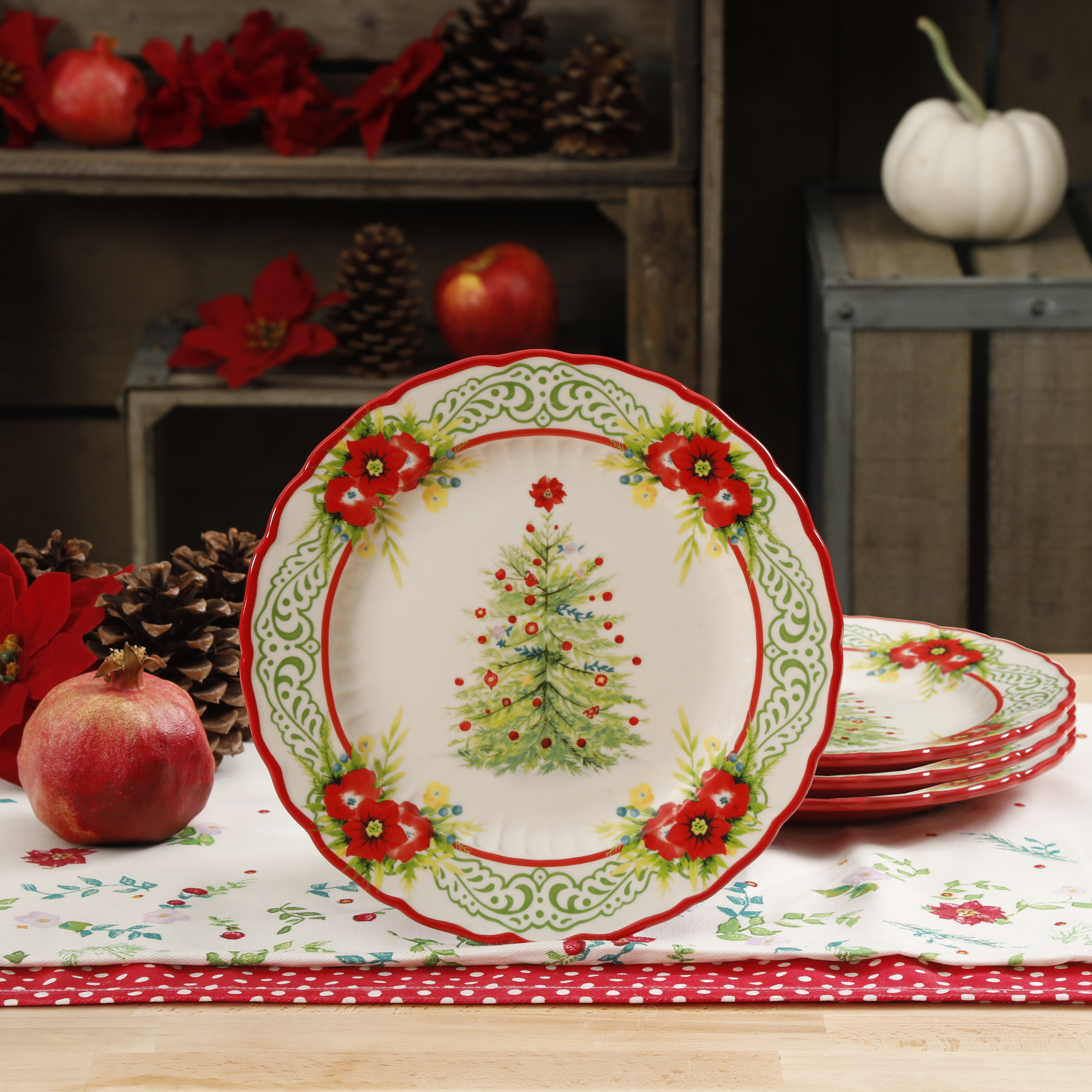 The Pioneer Woman Garland 8.8-Inch Salad Plates, Set of 4