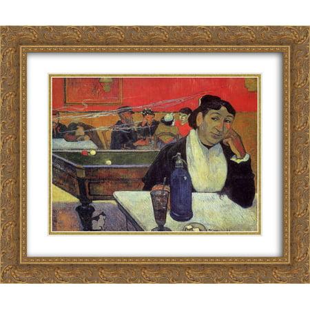 - Paul Gauguin 2x Matted 24x20 Gold Ornate Framed Art Print 'Night cafe, Arles'