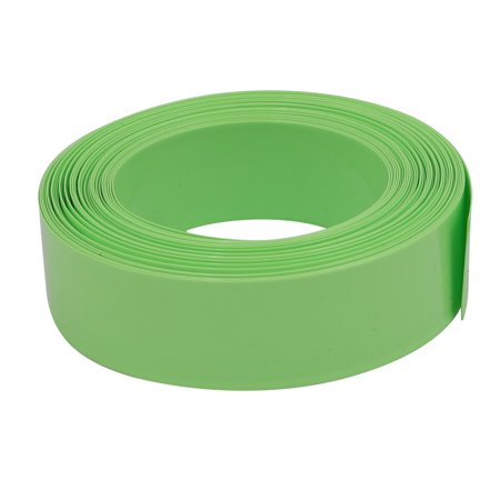 17 Mm Olive - Unique Bargains 17mm Flat Width 6M Long PVC Heat Shrinkable Tube Olive Green for AAA Battery