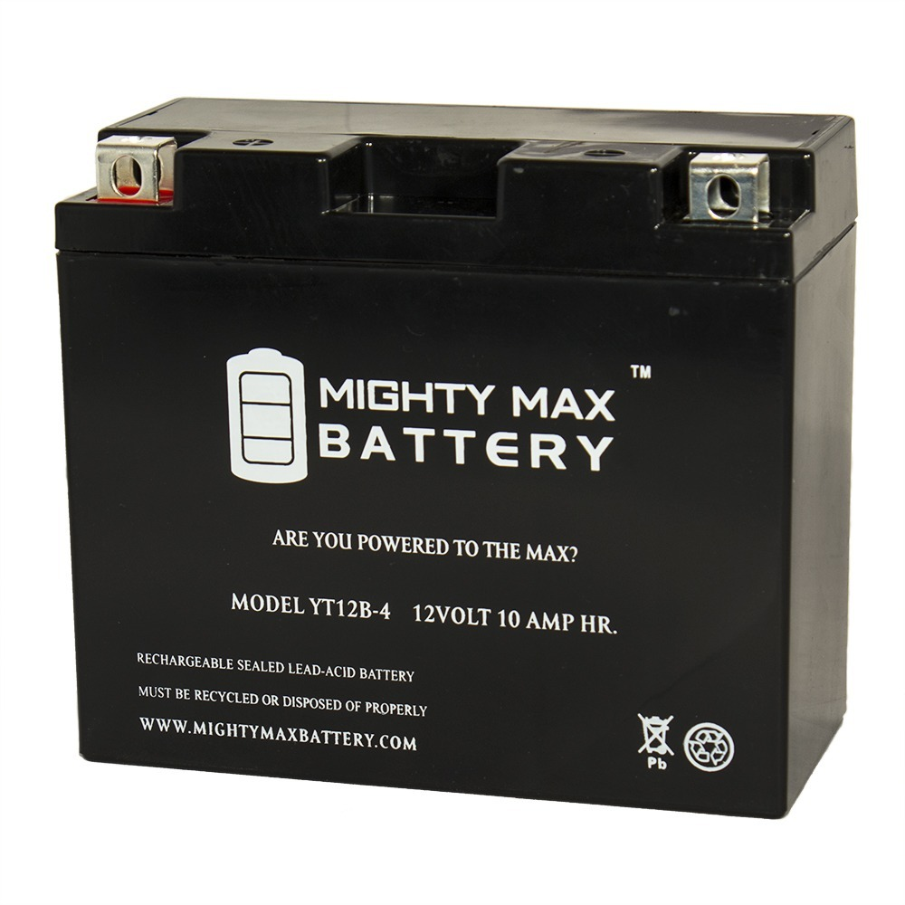 YT12B-4 SLA 12V 10Ah Battery for Yamaha XVS650 V-Star All 650cc 98-14