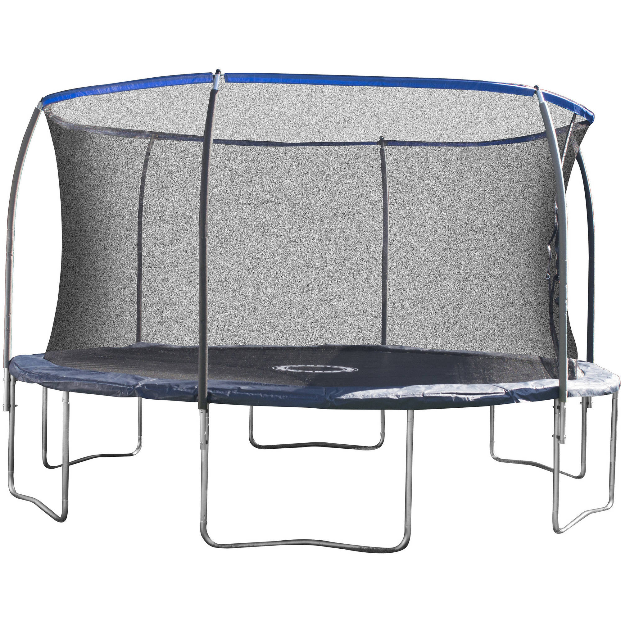 Bounce Pro 14-Foot Trampoline, with Enclosure, Dark Blue