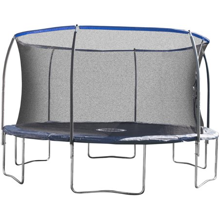 Bounce Pro 14-Foot Trampoline, with Safety Enclosure, Blue