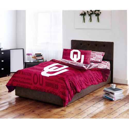 NCAA University of Oklahoma Sooners Bed in a Bag Complete Bedding Set