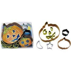 R & M Jack O'Lantern 9 Piece Cookie Cutter Set, Assorted Colors