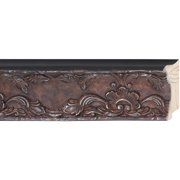 "Picture Frame Moulding (Wood) - Traditional Antique Silver Finish - 3.25"" width - 3/4"" rabbet depth"