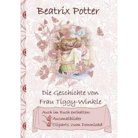 Die Geschichte von Frau Tiggy-Winkle (inklusive Ausmalbilder und Cliparts zum Download) - eBook
