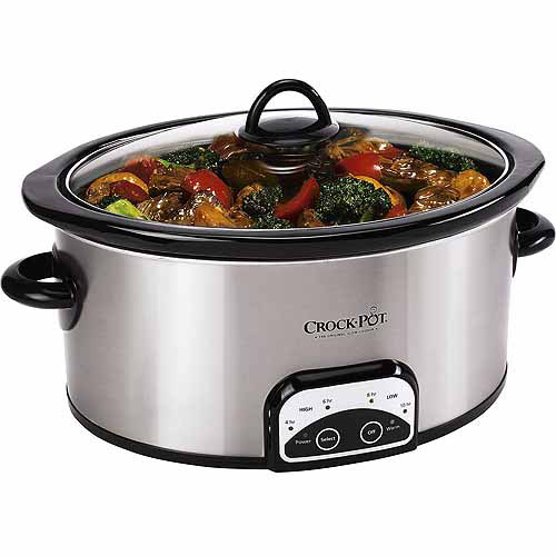 Crock-Pot 7-Quart Smart Pot Programmable Slow Cooker, Stainless Steel, SCCPVP700-S-A-WM1