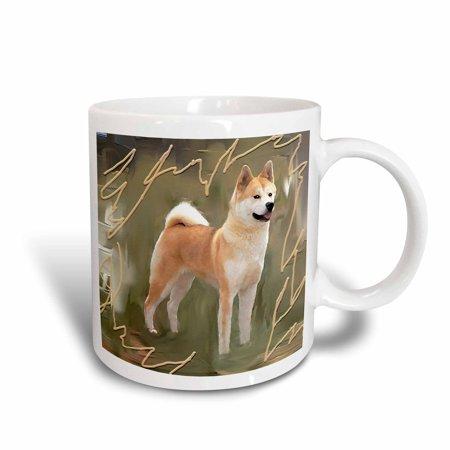 3dRose Akita, Ceramic Mug, 11-ounce