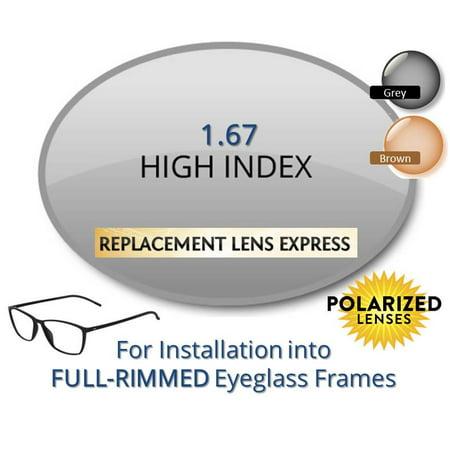 968786a3a3 Single Vision Polarized High Index 1.67 Prescription Eyeglass Lenses ...