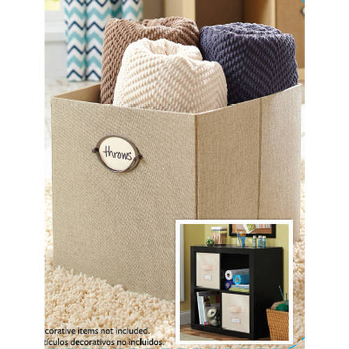 "Better Homes And Gardens 12.8""W x 12.8""D x 15""H Collapsible Fabric Cube Storage Bin, Multiple Colors"