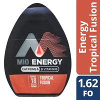(2 Pack) MiO Energy Tropical Fusion Liquid Water Enhancer, 12 - 1.62 fl oz Bottles