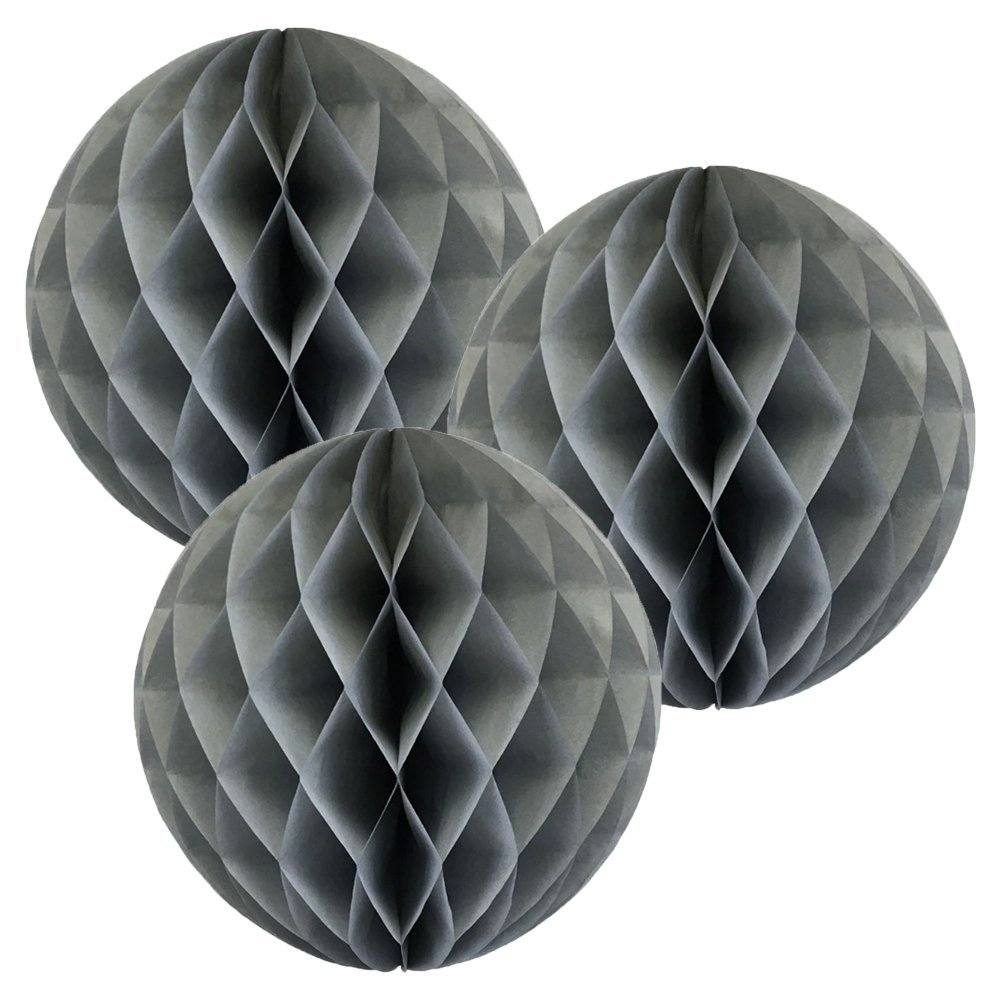 Just Artifacts Tissue Paper Honeycomb Ball (Set of 3, 8inch, Baby Blue)