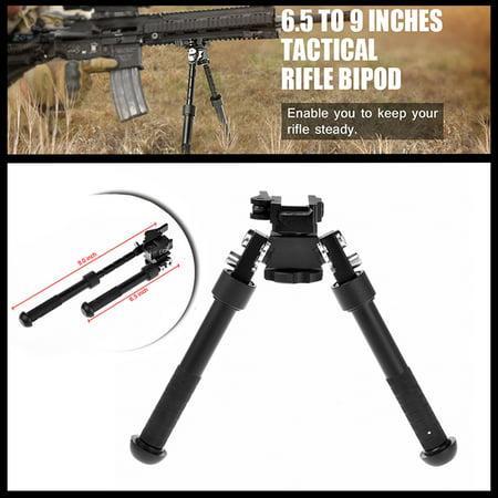 Tactical Forearm Rail - CVLIFE Rifle Bipod CNC QD Tactical Picatinny Rail 6.5 - 9 inch Bipod Flat Adjustable