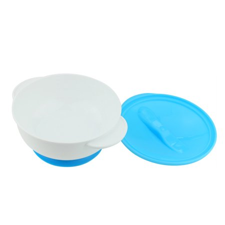 Baby Feeding Bowl with Sucker and Temperature Sensing Spoon Suction Cup Bowl Dishes Tableware Set for Children Kids
