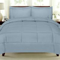 7 Piece Bed-In-A-Bag Down Alternative Comforter & Sheet Set Full Misty