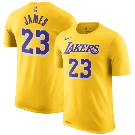 quality design 90114 56408 LeBron James Los Angeles Lakers Nike Icon Edition 2018/19 Name & Number  Performance T-Shirt - Gold