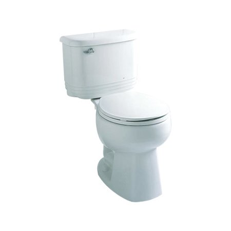 Sterling by Kohler Riverton 1.6 GPF Round Front 2 Piece Toilet ...