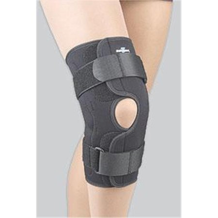 Fla 37 350Lgblk Safe T Sport Wrap Around Hinged Knee Stabilizing Brace  44  Black  44  Large