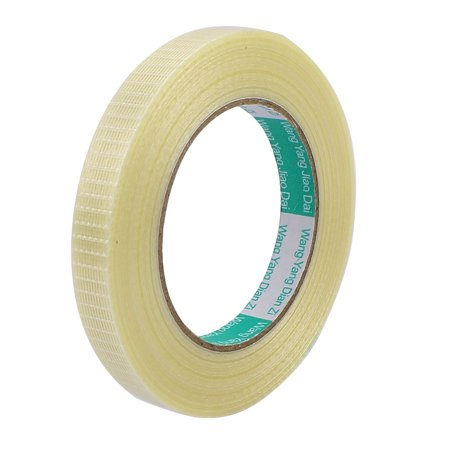 - 15mm Height 50M Length Long Adhesive Insulated Grid Glass Fiber Tape Roll