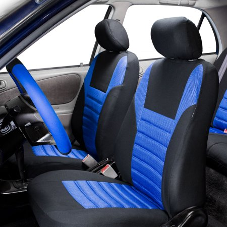 FH Group, Air Mesh Auto Car Seat Covers for Sedan SUV Van Front Buckets, 2 Front Bucket Covers, 11 Colors 2 Front Seat Covers