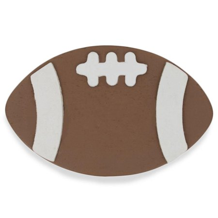 Wooden Hand Painted Football Cut Out 4 Inches](Grinch Wooden Cut Out)