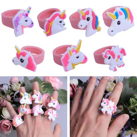 Lots Cartoon Unicorn Finger Ring Soft Silicone Party Bag Fillers Favor Kids Gift - Mickey's Halloween Party Cartoon