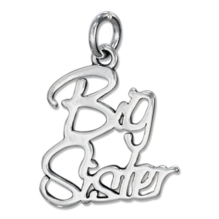 STERLING SILVER SCRIPT BIG SISTER CHARM (Middle Sister Charm)