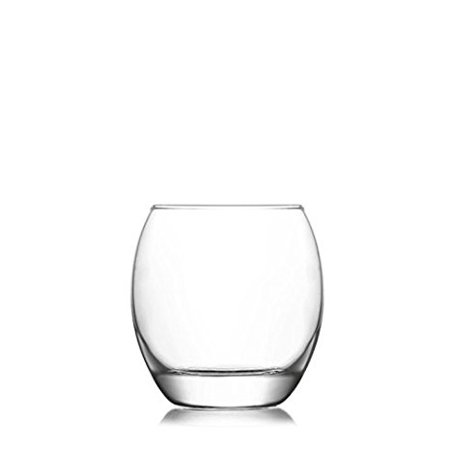 (Empire EMP364F, 13 3/4 oz Old Fashioned Whisky Glass, Brandy Whiskey Curved Glass Set, Scotch Glasses with Heavy Base, Set of 6)