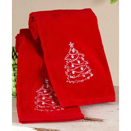 Chalkboard-Look Holiday Bath Collection (Set of 2 Hand Towels)