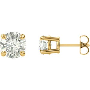 2e1af4d5a Jewels By Lux 14K Yellow Gold Charles & Colvard Forever One Moissanite  Colorless-Def 7