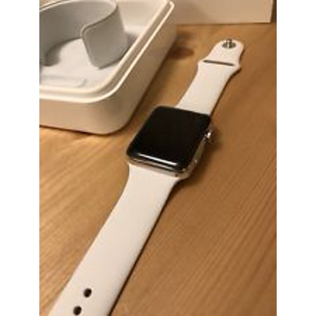 Apple Watch Series 2 Smartwatch 42mm, Space Grey Aluminum Case/ White Band (Newest Model) (Refurbished) - Watch Halloween 2